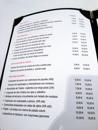 Carta Picture Of La Terraza De Alba Tres Cantos Tripadvisor