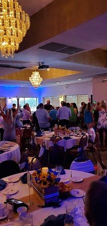 Banquet room wedding reception!