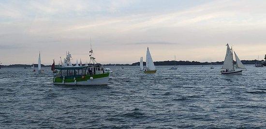 Le Petit Baigneur est un bateau en bois de 45 places qui propose des balade dans le Golfe du Morbihan