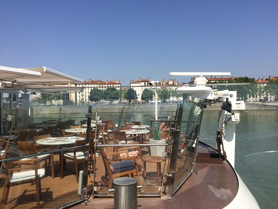 Viking Buri: Plenty of seating both inside and out. A view of Lyon