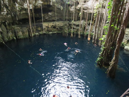 Flavio's Tours: Cenote on the Chichen Itza Tour. So beautiful and even had a rope swing!