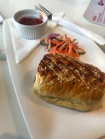 Flavoursome sausage roll I've had in Napier