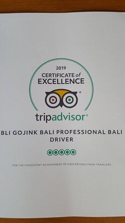 Bli Gojink Bali Professional Bali Driver: First achievement of the year 2019.