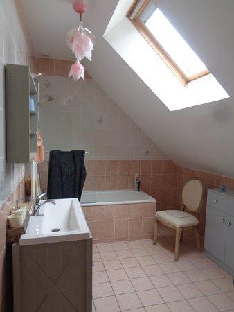 Orbigny, Francja: salle de bain et wc privé dans la chambre