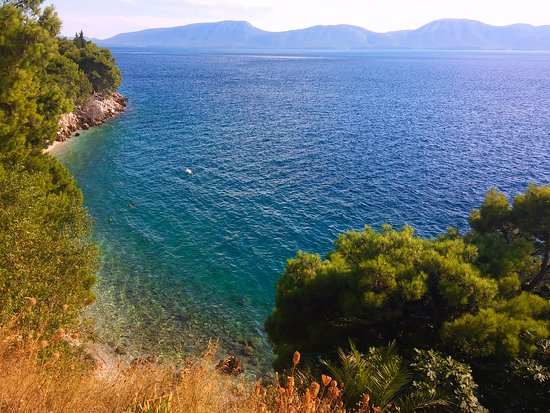 Gradac, Hrvatska: Between Ploče and Makarska, you will encounter such lonely beaches where you can have privacy, and some skills to get to them. The Croatian coast is full of such wonderful surprises.