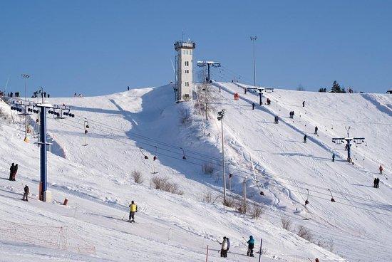 Alpatyevo, روسيا: Зимний спуск в с. Алпатьево Луховицкого района