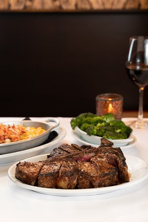 The Porterhouse steak, a Ruth's Chris signature. Perfect for sharing with friends, family or that special person.