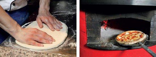 Saint George Bar & Grill: Pizza making in progress