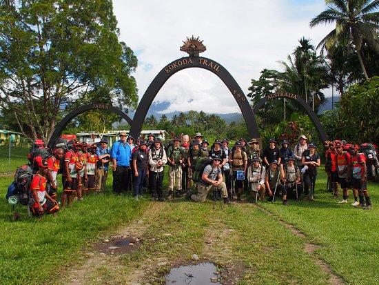 2 Wing AAFC Kokoda Trail Pilgrimage at the start.