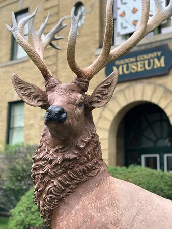 Prominent on the museum's front lawn is an elk statue, which previously graced the entrance of the old Elks Club in Gloversville, NY.