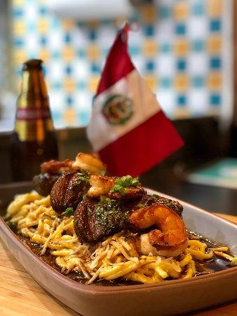 Linguini a la Huancaina!! Picaña y Camarón!