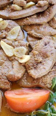 Slovensky Grob, สโลวะเกีย: Es imposible no probar el foie gras...