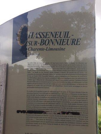 Chasseneuil-sur-Bonnieure, France: Memorial of Resistance