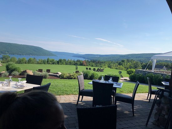 South Bristol, NY: View from Bristol Harbor Lodge  Restaurant