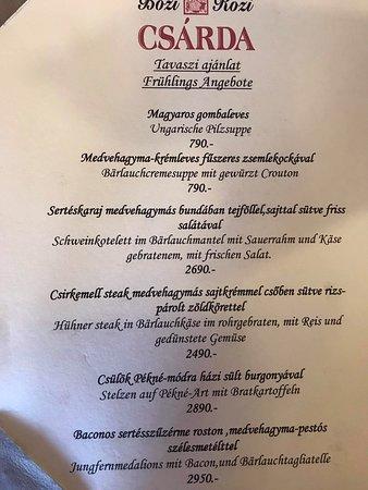 Fertoboz, ฮังการี: Sehr gutes Essen, sehr freundliches Bedienung. Ich werde so für Familien, wie Veranstaltungen oder an zwei Personen auch empfehlen.
