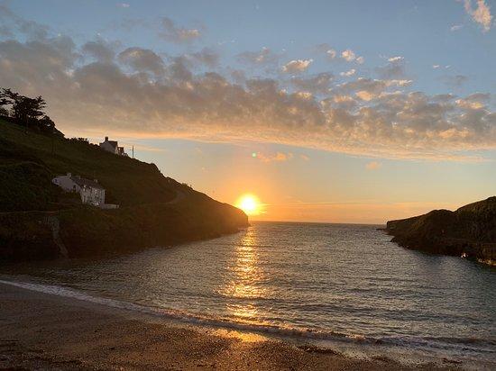 St Kew, UK: New Polzeath Beach at Sunset