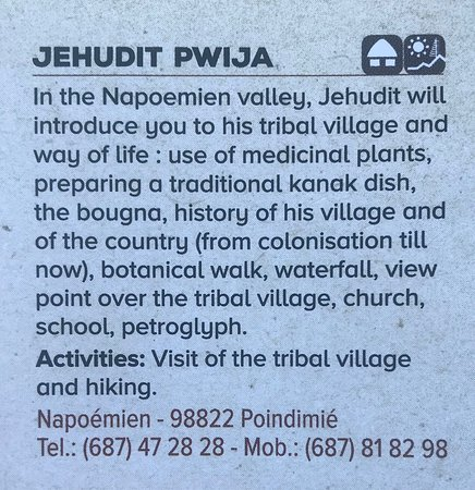 Jedhudit Pwija Tribal Tours