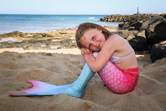 美人鱼照片在海滩拍摄 - 仅限儿童