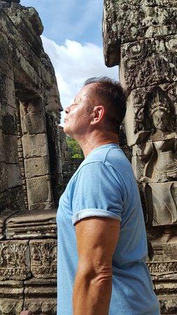 Ultimate Private Angkor Guide To Sunrise Angkor Wat, Bayon, TaProhm, Bantey Srei: Soft Kiss of Buddha...