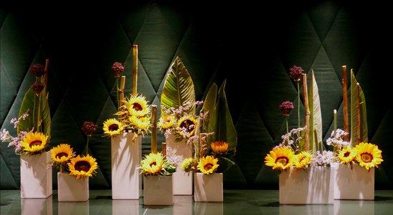 Neu-Isenburg, Germania: Blumendekoration an der Rezeption