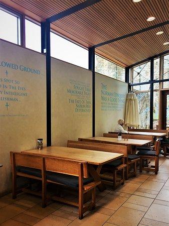 5.  Battle Abbey Café; interior dining area