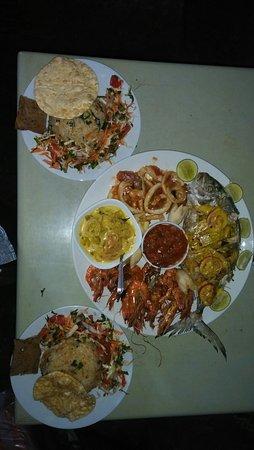 Seafood platter..