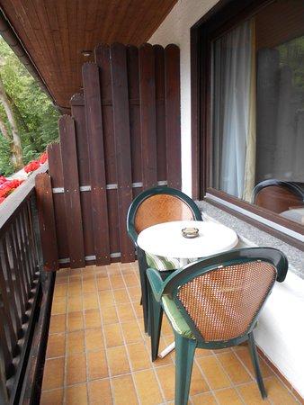 Rossbach, Tyskland: terras aan kamer