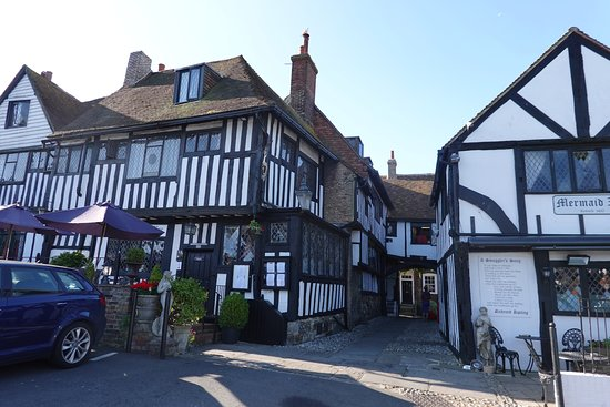 The Mermaid Inn: View from the beer garden in the back