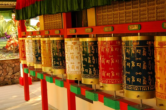 Eudlo, Australia: Beautiful Prayer Wheels at the Garden of Enlightenment, one of many attractions to see at the Centre.