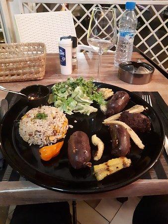 Boudins créoles et riz sauvage