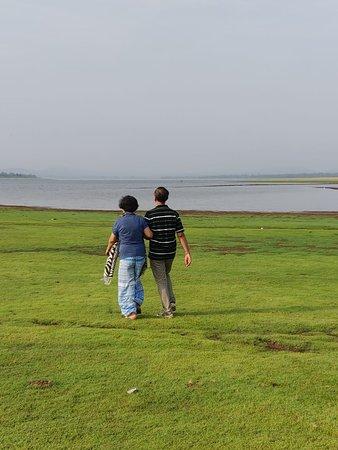 Leisurely walk towards the Kabini backwaters