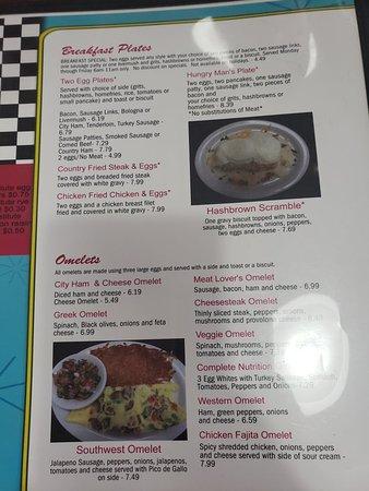 Landis, NC: Menu - Breakfast