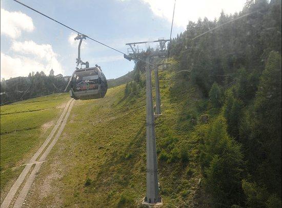 Telecabina Monte Lussari/Italia: Arrivo al monte Lussari
