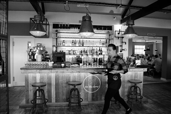 On the Quay: Our well stocked bar