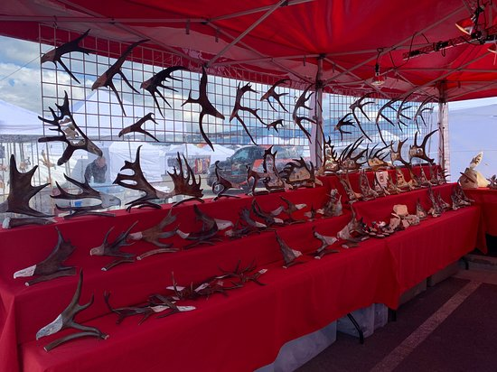 Anchorage Market: If you like antlers, this place is for you!