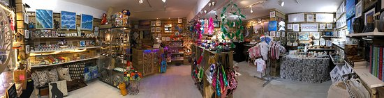 Padstow, UK: A little twirl around the shop - it's a constantly changing panorama as we get new stock from our local traders :)