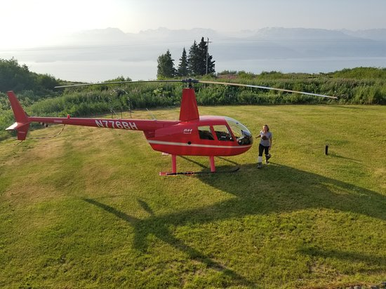 Fritz Creek, อลาสกา: Helicopter pick up for bear watching tour.