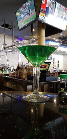 Goffstown, NH: Martini for two!  Any martini on the menu in a giant martini glass to share with a friend or two.