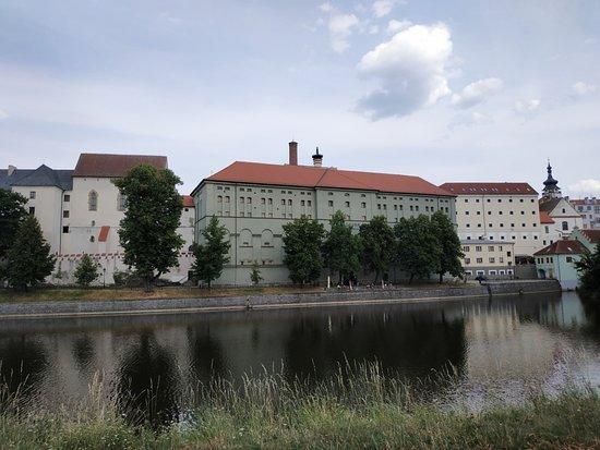 Písek, Česká republika: Budovy na místě původního píseckého hradu