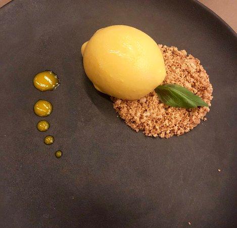 Excellent vegetarian menu and a surprising lemon pie