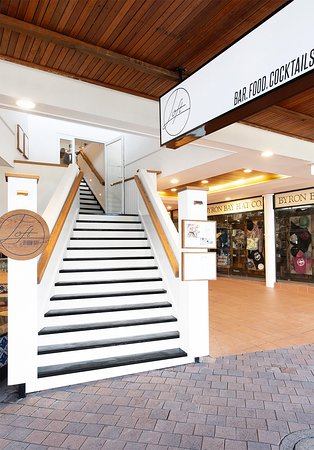Find us at the top of the Main Street of Byron Bay, Jonson Street. Head upstairs and enjoy the view from above.