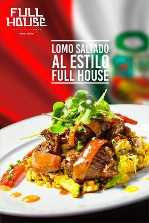 """🇵🇪#FelicesFiestasPatrias🇵🇪  Porque Tengo el orgullo de ser peruano y soy feliz❤️ , y para celebrar🥳 lanzamos nuestro #PlatoFuerte de la semana """"LOMO SALTADO AL ESTILO FULL HOUSE """" que esperas realiza tu reserva . 🔴 El pisco sour va por nuestra cuenta !!!  Because I am proud to be Peruvian and I am happy ❤️, and to celebrate🥳 our #PlatoFuerte of the week """"LOMO SALTADO TO THE STYLE OF THE FULL HOUSE"""", which hopes to click on your reservation.  📍Av. Imperio de los incas 620 - Machupicchu"""
