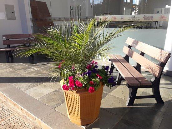 Sao Pedro do Butia, RS: Área de lazer do Hotel Raios de Sol Missioneiro, um convite a leitura e um bom chimarrão.