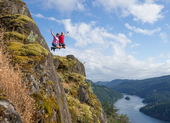 Top of Gowlland Tod Hike in Victoria: Fabulous photo (not photo shopped) taken by Mark