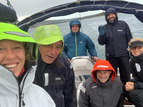 Skipper Training: also on rainy days, sailing is fun! :-) 