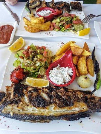 Kebab and Sea Bass... delicious!