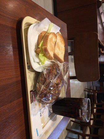 朝カフェ・セット A390円と ブリオッシュショコラ180円で570円