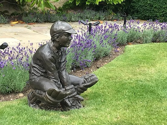 Wicket keeper sculpture, one of many sculptures around the