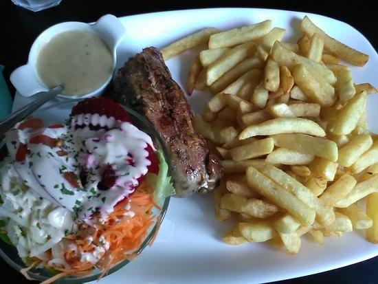 Aulnoye-Aymeries, Francja: Cervelas frites.