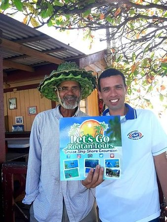 Sabas and Elias from Let's Go Roatan Tours, visit the website Let's Go Roatan Tours . COM